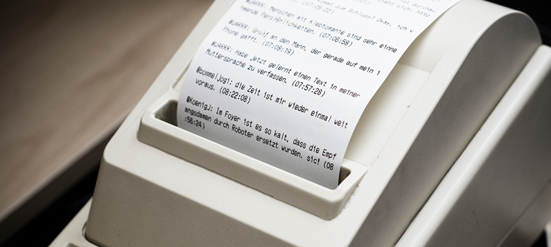 Image of a receipt printer